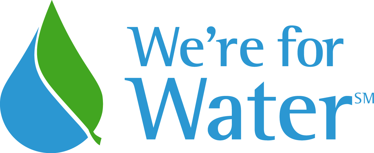We're for Water logo
