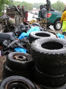 """Treasures"" discovered by volunteers at McQuesten Brook"