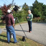 Filming Candace for EPA Soak up the Rain video