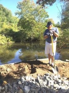 Chris on shovel